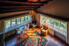 Het huis van de bergenmening Stock Foto