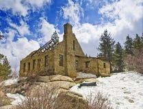 Het Huis van de Bewaarder van de dam, het Grote Meer van de Beer. CA stock foto's