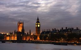 Het Huis van de Big Ben van het Parlement Royalty-vrije Stock Foto