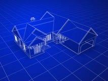Het Huis van de blauwdruk Stock Afbeeldingen