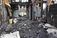 Het huis van de brandwond uit Royalty-vrije Stock Foto