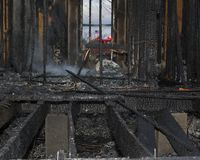Het huis van de brandwond uit stock fotografie