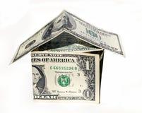 Het huis van de dollar stock afbeeldingen