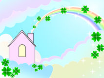 Het huis van de droom Stock Afbeeldingen