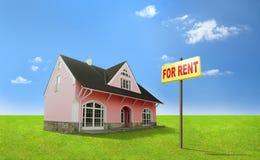 Het huis van de droom voor huur. Onroerende goederen, makelaardij, realtor Stock Foto's