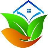 Het huis van de Ecozorg stock illustratie