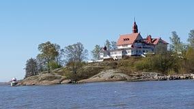 Het huis van de eilandzomer Stock Foto's
