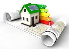 Het Huis van de energierendementclassificatie Stock Foto's