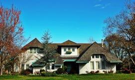 Het huis van de Europees-stijl Royalty-vrije Stock Fotografie