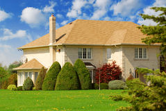 Het huis van de familie royalty-vrije stock fotografie
