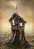 Het huis van de fantasieboom Stock Foto