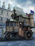 Het huis van de fantasiestoom stock illustratie