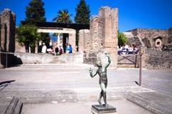 Het Huis van de faun, de Ruïnes van Pompei Stock Foto's