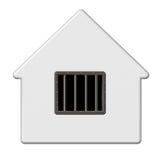 Het huis van de gevangenis Stock Foto's
