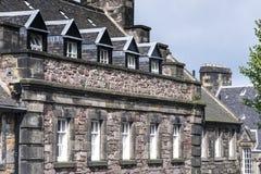 Het Huis van de Gouverneur in het Kasteel van Edinburgh, Schotland Stock Fotografie