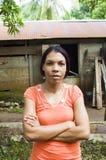 Het huis van de het portretdame van het Eiland van het Graan van Nicaragua Royalty-vrije Stock Afbeelding