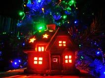 Het huis van de Kerstmisbliksem Royalty-vrije Stock Foto's
