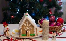 Het huis van de Kerstmispeperkoek Royalty-vrije Stock Fotografie