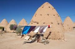 Het huis van de klei op de woestijn Royalty-vrije Stock Fotografie