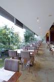 Het huis van de koffie met glasmuur Royalty-vrije Stock Afbeelding