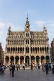 Het Huis van de koning op de Grote Plaats in Brussel Royalty-vrije Stock Foto's