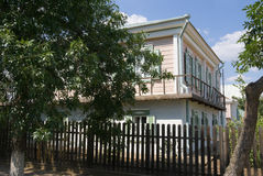 Het huis van de kozak in Veshenskaia Royalty-vrije Stock Foto's