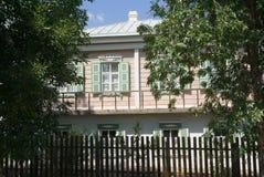Het huis van de kozak in Veshenskaia Royalty-vrije Stock Afbeeldingen