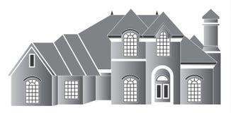 Het huis van de luxe royalty-vrije illustratie