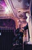 Het Huis van de Lvivopera parterre Zachte nadruk molding stock foto's