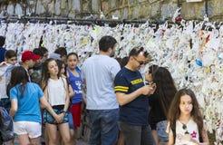 Het Huis van de Moeder van God in Turkije, door pelgrims met verzoeken om hulp uit de hele wereld wordt bezocht die royalty-vrije stock afbeeldingen