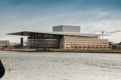 Het huis van de opera in Kopenhagen stock foto's