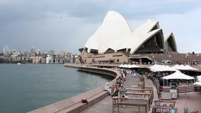 Het Huis van de Opera van Sydney in Australië stock videobeelden
