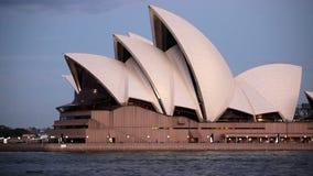 Het Huis van de Opera van Sydney in Australië stock footage