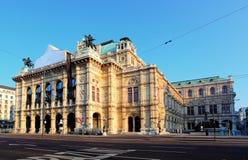 Het Huis van de Opera van de Staat van Wenen, Oostenrijk Royalty-vrije Stock Foto's