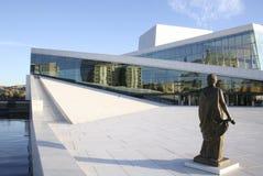Het huis van de Opera van Oslo Stock Foto's