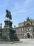 Het Huis van de Opera van Semper in Dresden Stock Foto's