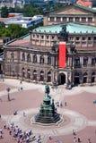 Het Huis van de Opera van Semper, Dresden stock foto's