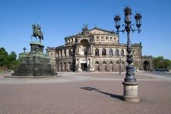 Het Huis van de Opera van Semper in Dresden Stock Foto