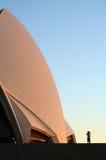 Het Huis van de Opera van Sydney bij dageraad Royalty-vrije Stock Fotografie