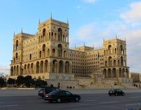 Het Huis van de overheid in Baku Stock Afbeelding