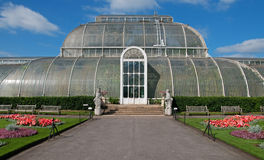Het huis van de Palm in Kew stock foto
