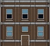 Het huis van de pixelkunst voor achtergrond Stock Foto
