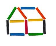 Het huis van de plasticine Stock Afbeelding