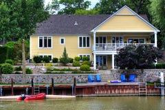 Het huis van de rivier Royalty-vrije Stock Foto