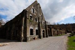 Het huis van de ruïnesvoorgevel, Abdij van Villers-La Ville, België stock afbeeldingen