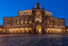 Het Huis van de Semperopera in Dresden (Semperoper) Royalty-vrije Stock Afbeelding