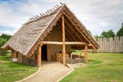 Het huis van de smid in faktory dorp Stock Foto's