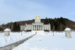 Het Huis van de Staat van Vermont, Montpelier Royalty-vrije Stock Foto