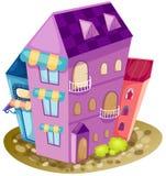 Het huis van de stad Stock Afbeelding