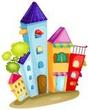Het huis van de stad stock illustratie